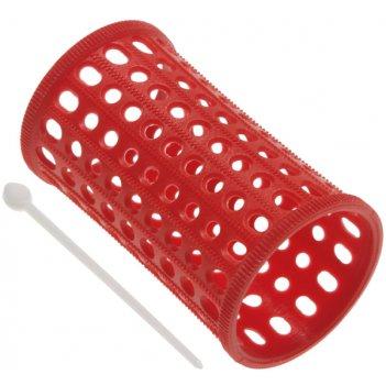 Бигуди 40 мм пластиковые длинные красные, 10 штук в упаковке
