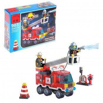 Конструктор пожарные спасатели огнеборцы, 130 деталей, 2 фигурки пожарного