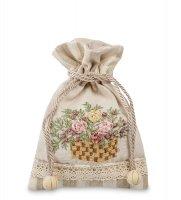 Lk-22 мешочек из льна садовые цветы