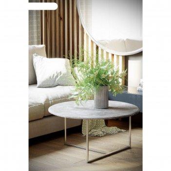 Стол журнальный «маджоре», 800 x 800 x 390 мм, мдф, цвет серый мрамор