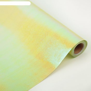 Бумага-пленка перламутровая 0,5 х 10 м свело-зелёный