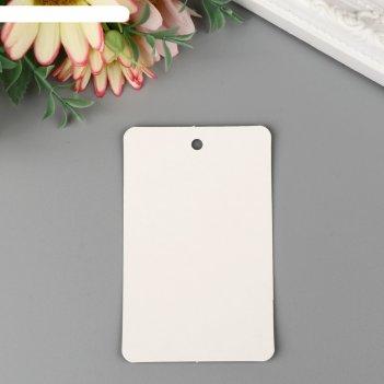 Бирка картон классика белая 8х5 см