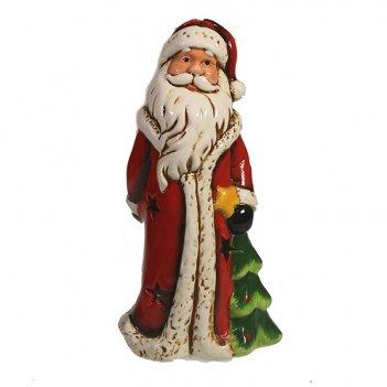 Фигура декоративная дед мороз с елкой l11.5w10h20.5