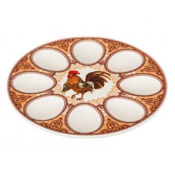Тарелка для яиц петух диаметр=20 см.(кор=48шт.)