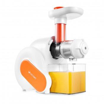 Соковыжималка kitfort kt-1110-2, шнековая, 150 вт, 80-100 об/мин, оранжева