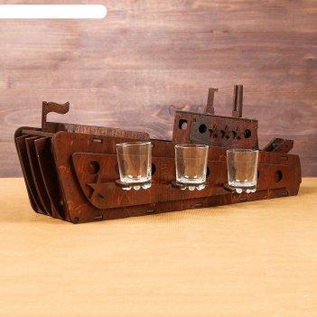 Мини-бар деревянный корабль