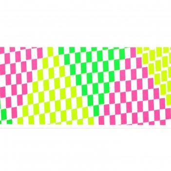 Слайдер-дизайн для ногтей квадратики, неоновый, цвета микс