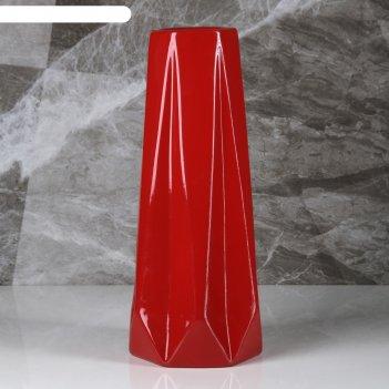 Ваза марокко, красный цвет, 34 см