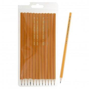 Набор чёрнографитных карандашей koh-i-noor 1696 разной твердости, 12 штук,