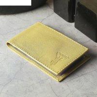 Визитница, 1 ряд, 18 карт, цвет жёлтый