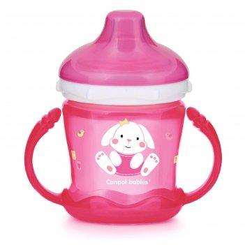 Поильник-непроливайка canpol babies sweet fun, цвет розовый, 180 мл