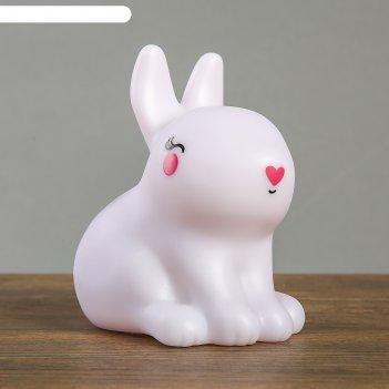 Ночник пластик зайчонок ledх1 13х8,5х12 см