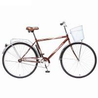 Велосипед двухколесный 28 новатрек дорожный fusion, цвет: коричневый