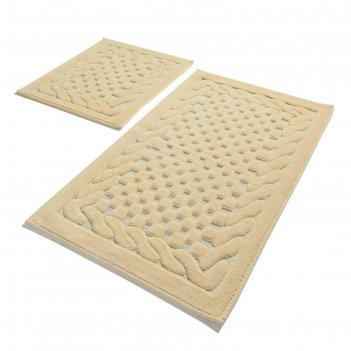 Комплект ковриков для ванной stone, 2 шт, 60х100 см и 60х50 см, хлопок, цв