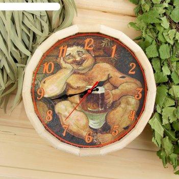 Часы банные бочонок в баньке хорошо