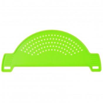 Дуршлаг на кастрюлю, d = 28 см, цвет зелёный