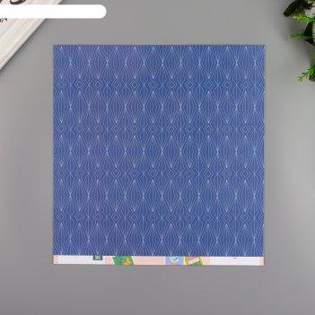 Бумага для скрапбукинга pink paislee horizon22 30.5х30.5 см, 190 гр/м2