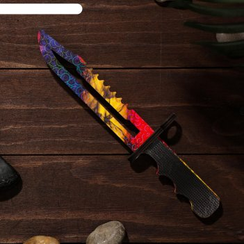 Сувенир деревянный «штык нож», сиренево- жёлтое лезвие
