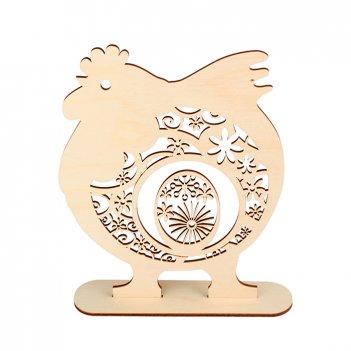 Декоративная форма на подставке петух с цветочным орнаментом