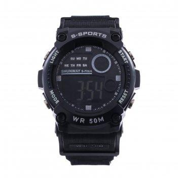 Часы наручные электронные shunway s-706a,  d=4.5 см,