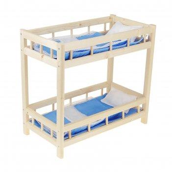 Кроватка кукольная 12 двухъярусная, цвета микс