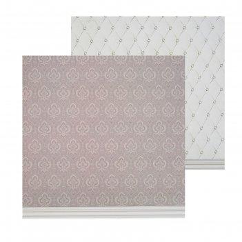 Фотофон двусторонний «стёганая ткань», 45 x 45 см, переплётный картон, 980