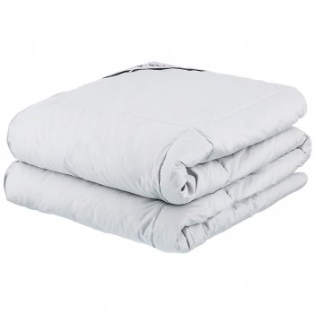 Одеяло хюгге 140*205 см теплое пух серого гуся премиум,волокно микробол,са