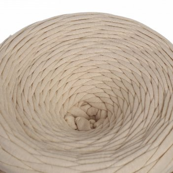 Трикотажная лента лентино лицевая 100м/350гр, 7-8 мм (экрю)