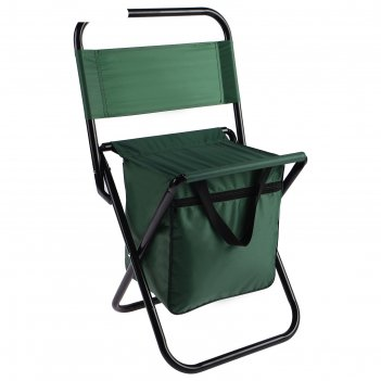 Стул туристический с сумкой 35х26х60 см, цвет: зеленый