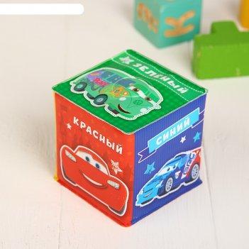 Мягкие кубики «цвета», со свистулькой, тачки р-р. 7*7см, для купания