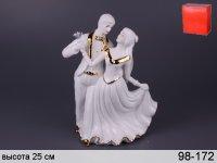Сувенир танцующая пара высота=24 см крас.карт.уп