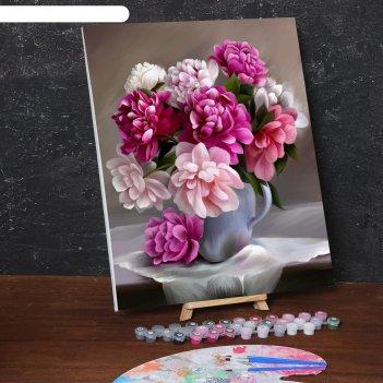Картина по номерам на холсте с подрамником букет 40*50 см