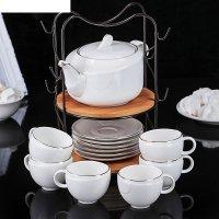 Набор чайный эстет, 13 предметов: чайник 600 мл, 6 кружек 135 мл, 6 блюдец