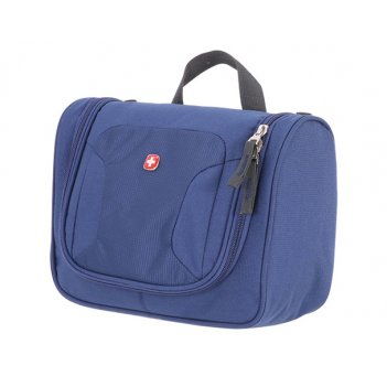 Несессер wenger toiletry kit,  дорожный, синий, полиэстер, 27х11х22 см
