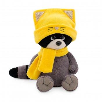 Мягкая игрушка енотик дэнни в шапке котёнка 20 см os004-86/20