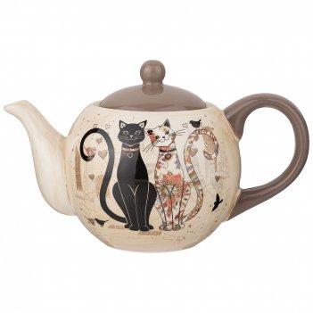 Чайник заварочный парижские коты 900 мл. (кор=16шт.)