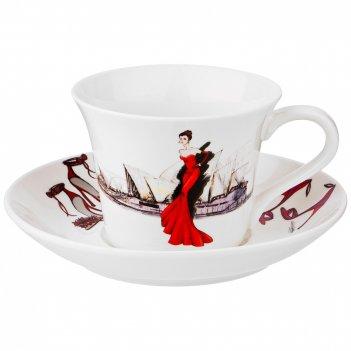 Чайный набор на 1пер.2пр. fashion queen 360мл (кор=24наб.)