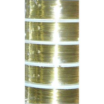 Проволока медная 0.3мм, 21 метр золото