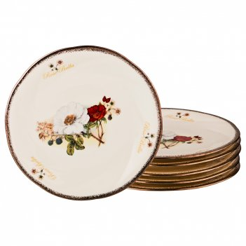 Набор тарелок 6 шт., белла диаметр=19 см. (кор=8набор.)