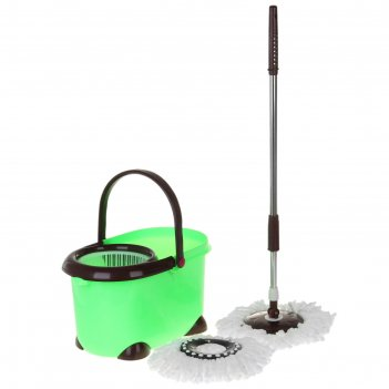 Набор для уборки палитра, 3 предмета: ведро с отжимом овальное, швабра, за