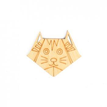 Форма для декора оригами-кот