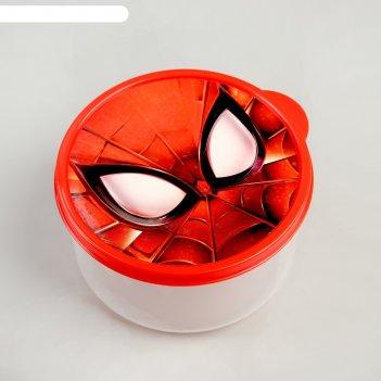 Ланч-бокс круглый 500 мл, человек-паук