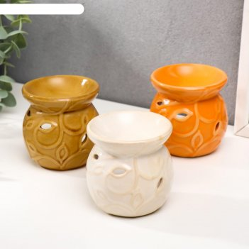 Аромалампа керамика флора 8х7,7х7,7 см