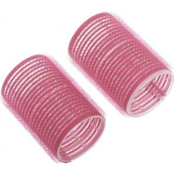 Бигуди-липучки dewal beauty розовые d 44ммx63мм(10шт/упак)