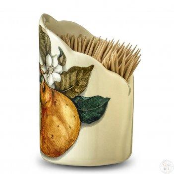 Подставка для зубочисток 8см artigianato ceramico груша
