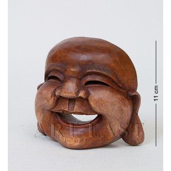 В2-0240 статуэтка улыбка будды (красное дерево)