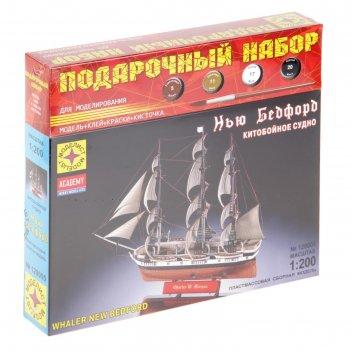 Набор сборной модели - корабль китобойное судно нью бедфорд в подар. короб