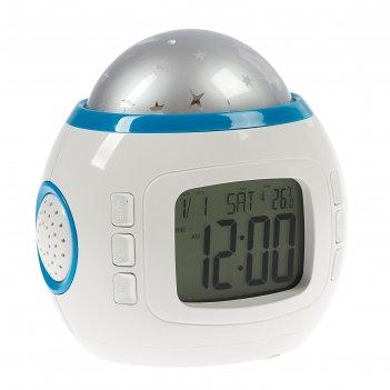 Будильник luazon lb-10 звездное небо, часы, 8 мелодий