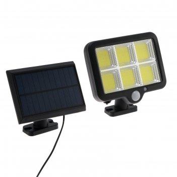 Прожектор светодиодный на выносной солнечной батарее 25 вт, 6хcob led, 650