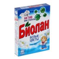 Стиральный порошок биолан белые цветы т/у, 350 гр